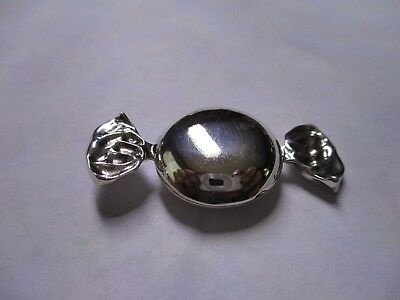 Sterling Silver Pill Box Toffee Style 925 silver polished Hallmarked