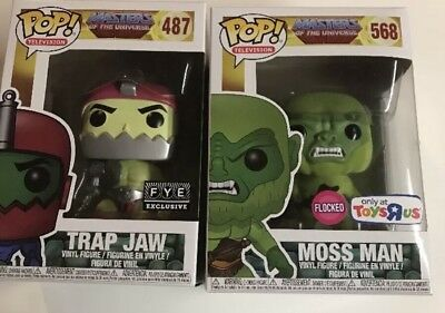 Masters of the Universe Funko Pop! Moss Man Flocked & Trap Jaw Specialty Series!
