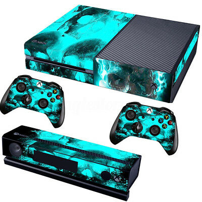 Video Game Accessories Skin For Xbox One S Console Controller Eyeball Blue Decal Video Games & Consoles