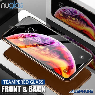 NUGLAS FRONT AND BACK 9H Tempered Glass Screen Protector for iPhone XS 8 Plus
