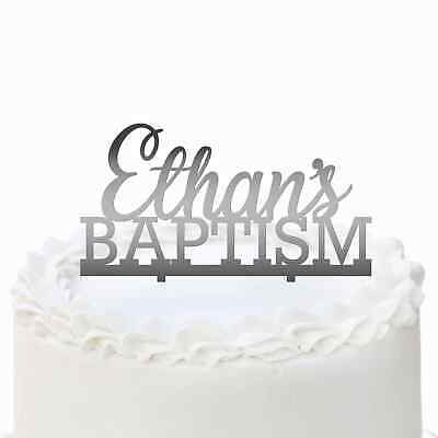 Personalised Acrylic Baptism Cake topper with name