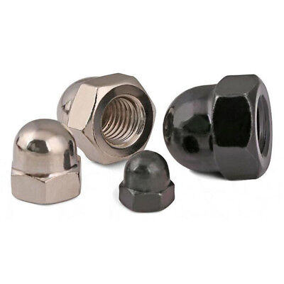 M3~M12 Hexagon Dome Nuts Ni/Zinc Plated Acorn Hex Cap For Metric Bolts/Screws