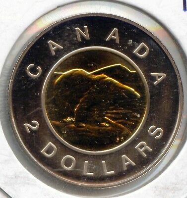 Canada 1997 Uncirculated Proof Like Toonie Canadian Two Dollar $2  EXACT COIN