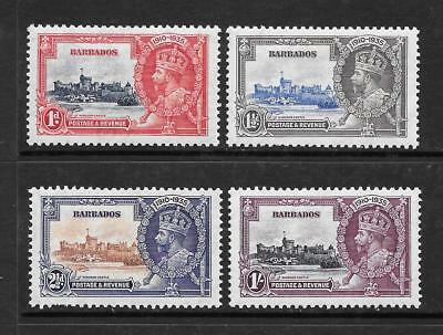 Barbados (until 1966) British Colonies & Territories Sierra Leone 1935 Silver Jubilee Set Sg 181-184 Lightly Mounted Mint Ref 1h