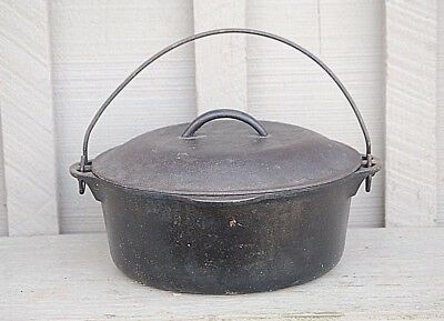 Old Vintage Griswold #8 Cast Iron Tite Top Dutch Oven Tool w Lid Erie PA 1278 C