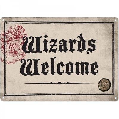 HARRY POTTER Wizards Welcome/Ministry of Magic Metal Wall Sign Collectable/Gift.