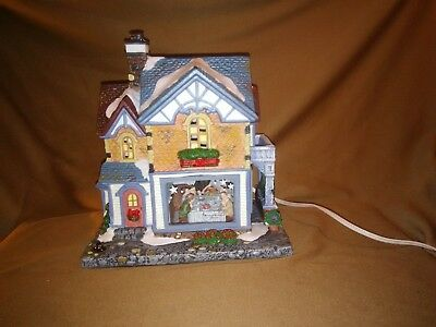 """Norman Rockwell """"Freedom from Want """"  lighted. House"""