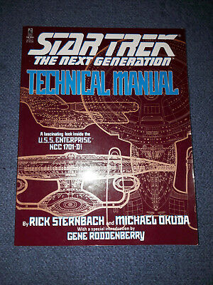 Star Trek The Next Generation Technical Manual by Rick Sternbach/ Michael Okuda