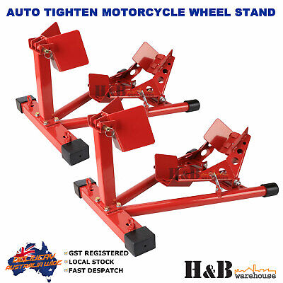 2 X HD Motorcycle Motor Motorbike Stand Front Wheel Chock Trailer Transport