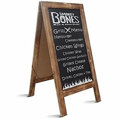 """Rustic Magnetic Chalkboards A-Frame Sign Extra Large 40"""" 20"""" Free Standing Easel"""
