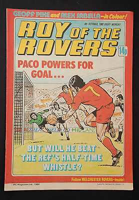 ROY OF THE ROVERS - 4th October 1980 - Vintage / Retro Football Comic
