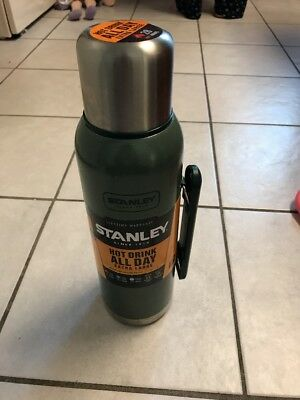 STANLEY CLASSIC 1.4QT Vacuum Bottle Thermos Keeps Warm All Day Long ...