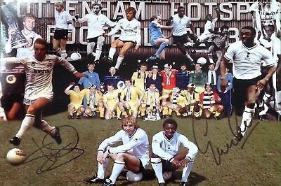 Steve Archibald & Garth Crooks Authentic Signed Spurs 12X8 Photo Aftal#198
