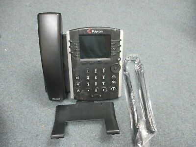 Polycom 2201-46104-001 VVX 400 VOIP IP Color Display Telephone W/ Stand - #Y