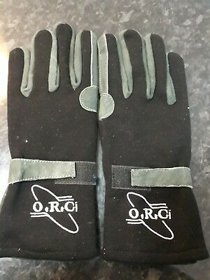 Sfi Approved Black Nomex Fireproof Racing Gloves Ministox Banger Brisca Rally