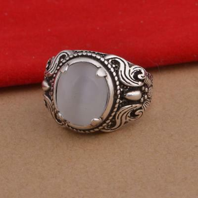 Vintage Design 925 Sterling Silver Natural Moonstone Rings Jewelry Nice&CABD