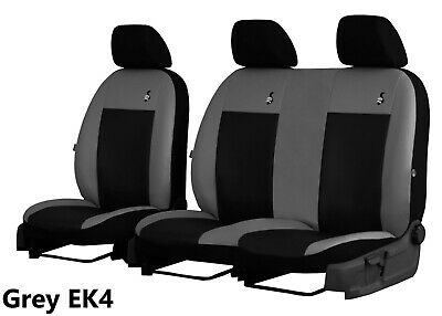 Volkswagen Vw T5 2+1 2003-2015 Eco Leather Seat Covers Made To Measure For Van