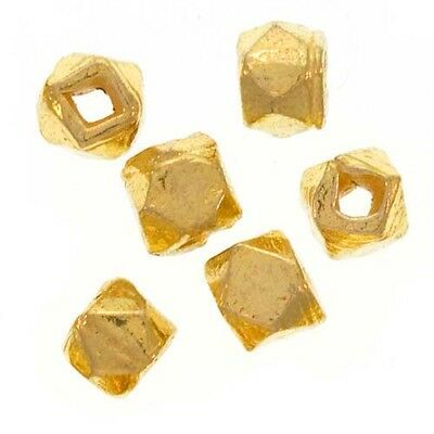 Bali Style Rough 22K Gold Vermeil Nuggets 4mm (12 Beads)