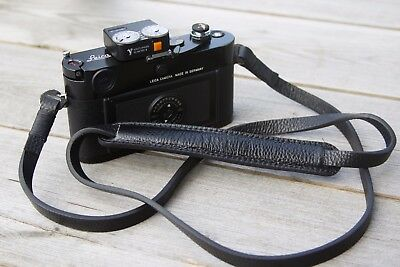 Leather Camera Strap - Black