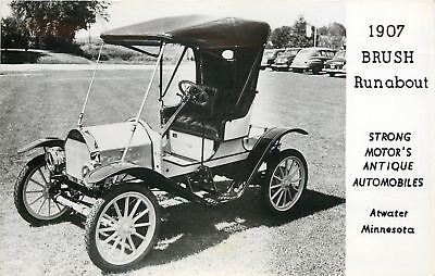 Atwater Minnesota~1907 Brush Runabout~Strong Motor's~Mt Pleasant IA~2 1940s RPPC
