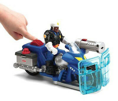 Fisher Price Jake Justice Policeman & Motorbike Action Figure Rescue Heroes