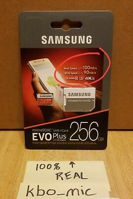 Samsung Evo Plus 256Gb 100Mb Micro Sdxc Card Mb-Mc256Ga (2017) 100% Genuine!!