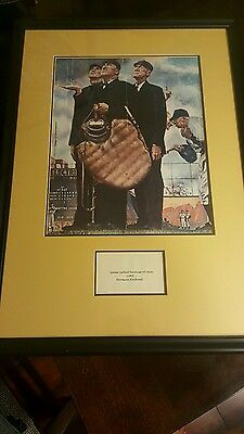 """Norman Rockwell Bottom Of The Sixth Print, Plague, Framed / Matted 24"""" X 17 1/2"""""""