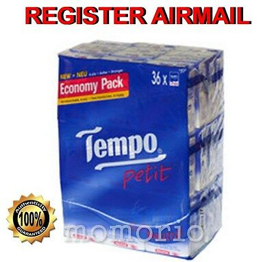 36 packs Neutral Tempo Petit Pocket Tissues Paper 4 ply handkerchiefs value
