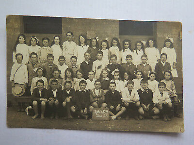 REAL PHOTO POSTCARD TIGHE'S HILL PRIMARY SCHOOL CLASS 5A NEWCASTLE SUBURB c1930