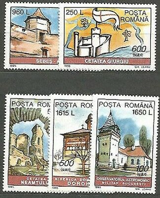 Romania - Mail 1995 Yvert 4277/81 Mnh Monuments