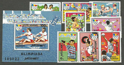 Romania - Mail 1992 Yvert 4024/31+H,222 Mnh Games Olympic Barcelona