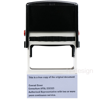 Personalised Self Inking Rubber Stamp Office Business Name 37x75mm LARGE