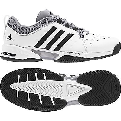 sports shoes c6b71 6458a adidas Barricade Classic Wide 4E men tennis shoes WhiteBlackGrey BY2920