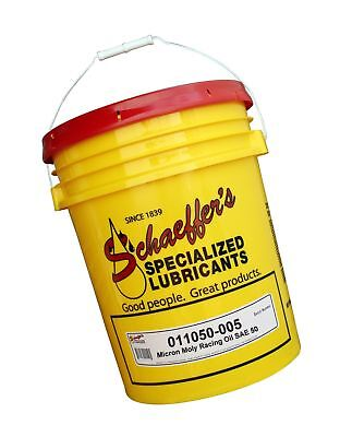 Schaeffer Manufacturing 011050-005 Micron Moly Racing Oil, SAE 50, 5 gal Pail