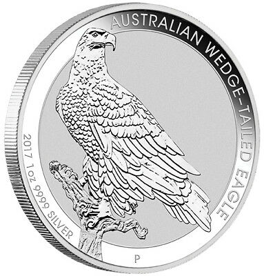 2017 Australian Wedge Tailed Eagle 1oz .9999 Fine Silver Coin - Perth Mint - NEW