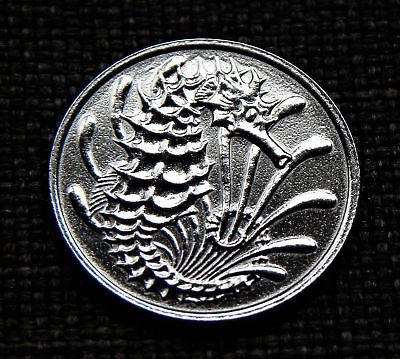 10 Cents Singapore 1980 - Seahorse - polished - Gift/ Collect *TAC12