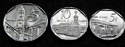 Set of 3 Central American Coins - polished - Gift/ Collect *TAC31