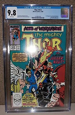 Thor #412 - CGC 9.8 White Pages - 1st Appearance New Warriors