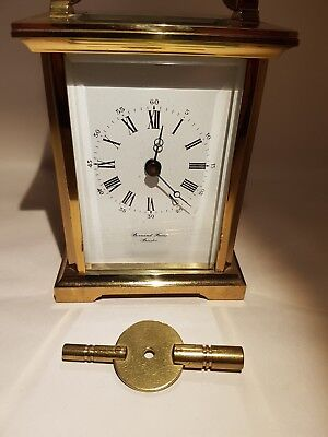 Vintage Bornard Freres Bicester carriage clock original key full working cond