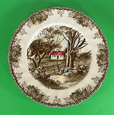 Johnson Brothers FRIENDLY VILLAGE Large Dinner Plate THE STONE WALL