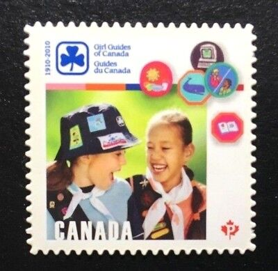 Canada #2402i Die Cut MNH, Girl Guides of Canada Stamp 2010