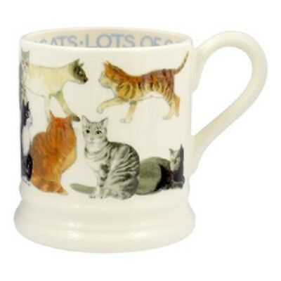 EMMA BRIDGEWATER POTTERY NEW HALF PINT MUG - All Over Cats