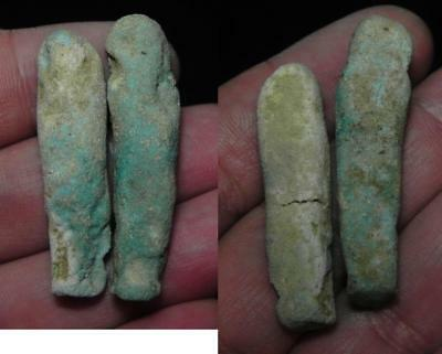 ZURQIEH - as3118- ANCIENT EGYPT . LOT OF 2  ANCIENT USHABTIS , 600 - 300 B.C