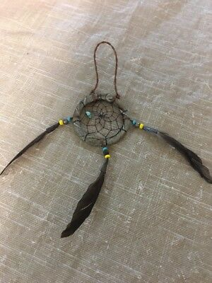 "Navajo Native American Dreamcatcher Curtis Bitsui Dream Catcher 2"" Stunning #2"