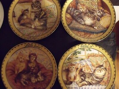 4 Cat Collector Plates - Sitting Pretty Series - Karen Murray