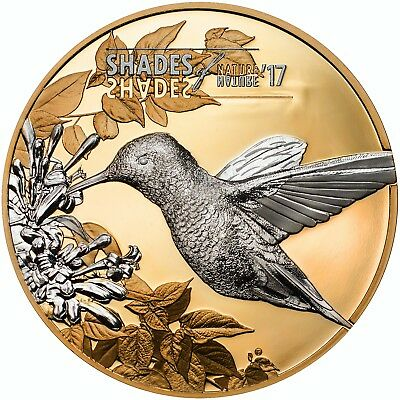 HUMMINGBIRD-SHADES OF NATURE Proof  Silver Coin Cook Islands 2017