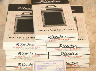 2 Riteway 4X5 Film Holders LATEST VERSION WITH SAFETY LOCK + EXTRA. NEW IN BOX!!