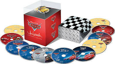 Cars Directors Edition (Blu-ray/DVD, 2011, 11-Disc Set) NEW Disney 3D OOP