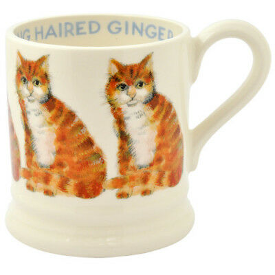 EMMA BRIDGEWATER POTTERY NEW HALF PINT MUG - Long Haired Ginger Cat