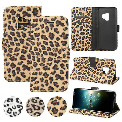Leopard Pattern Leather Wallet Stand Case Cover For Samsung Galaxy S9+/S8/Note 9